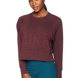Nike Versa Crew Sweater Shirt Maroon Small